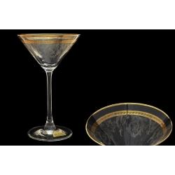 Бокал для мартини Золотая полоса+ втертая платина