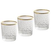 Набор: 6 хрустальных стаканов для виски Умбрия - золото