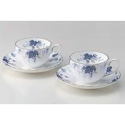 2 чайные чашки 2 блюдца синие
