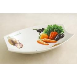 Блюдо овальное «Овощное ассорти» 25х16 см