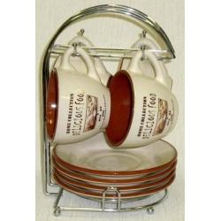 Чайный набор на металлической подставке «Деликатесы»