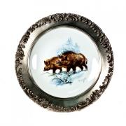 Тарелка декоративная навесная «Кабан»