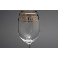 Рюмка для вина 200 мл «Гала» панто цветы +комбинация платины и золота