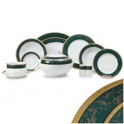 Сервиз чайный 12 перс 41 пр зеленый