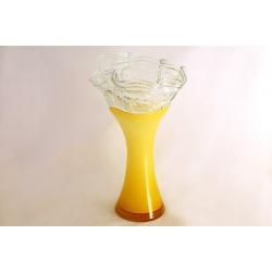 Ваза для цветов янтарная 41 см