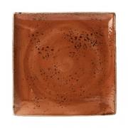 Блюдо квадр. «Крафт», фарфор, H=18,L=268,B=268мм, терракот