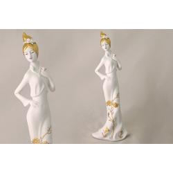 Статуэтка «Дама с цветком» 37 см