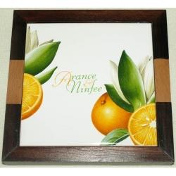 Подставка под горячее «Апельсины и кувшинки» 19х19 см