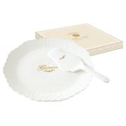 Набор для торта: блюдо с лопаткой Белое кружево