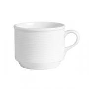 Чашка чайная «Аура»; фарфор; 230мл; белый
