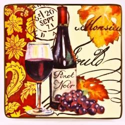 Блюдо квадр. 31см. «Вино»