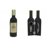 Винный набор 3 пр. Бутылка матовая с золотой пробкой