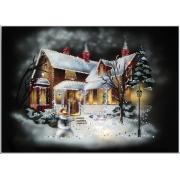 Рождественский домик.Размер картины:50х70.