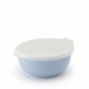 Фарфоровый лоток с пластиковой крышкой цвет - Молочная черника