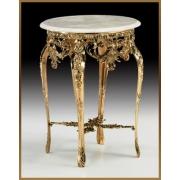 Стол круглый цвет - золото 80х60 см