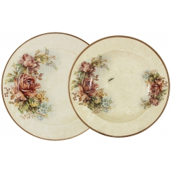 Набор тарелок «Элианто» Суповая - 23,5 см, обеденная -25 см