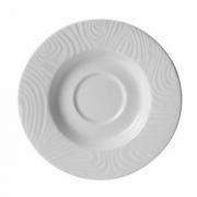 Блюдце «Оптик», фарфор, D=16см, белый