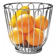Корзина для фруктов; сталь нерж.; D=21.5,H=20.5см