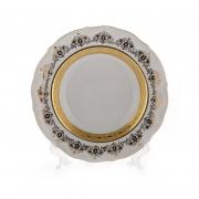 Набор глубоких тарелок «Лист белый Золото» 22см.6шт.
