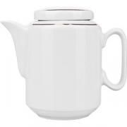 Чайник «Комфорт» фарфор; 0.5л; белый, золотой