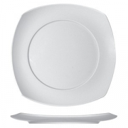 Тарелка квадратная «Опшенс», фарфор, L=32,B=32см, белый