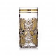 Набор стаканов «Хрусталь с золотом» 350 мл.