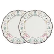 Набор из 2-х обеденных тарелок Узор в подарочной упаковке