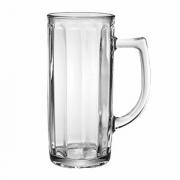 Кружка пивная «Гамбург», стекло, 300мл, D=72,H=150,B=107мм, прозр.