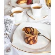 Сервиз чайный 17пр. на 6 персон «Дюк белый с золотом»