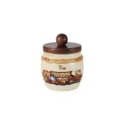 Банка для сыпучих продуктов с деревянной крышкой (чай) Садовые цветы