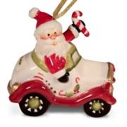 Подвеска 7,3 см Дед Мороз в машине