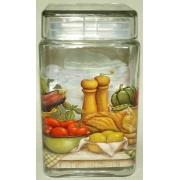 Банка для сыпучих продуктов «Ленивый повар» 1,68л/ 18 см