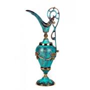 Декоративная ваза синяя бронза h-34