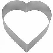Форма конд. «Сердце», сталь нерж., D=26,H=7см