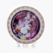 Настенная тарелка 32 см «Цветы 12»