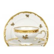 Набор для чая на 6 перс. 12 пред. подарочный «Роза золотая»