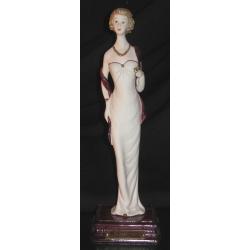 23646 статуэтка «Дама с накидкой» 28см
