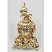 Часы «Всадник» с маятником золотистый 41х25 см.