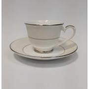 Набор чашек для кофе на 2 персоны «Серый шелк»