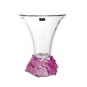 Ваза для цветов 25,5cм «Фрост Розы Розовые»