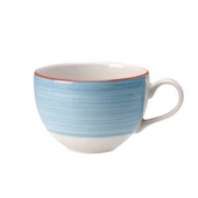 Чашка чайная «Рио Блю», фарфор, 340мл, белый,синий
