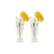 Набор из 2-х хрустальных ваз для цветов Цветок розы матовый