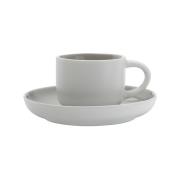 Чашка кофейная с блюдцем Оттенки (серая) без инд.упаковки