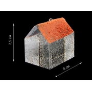 Скульптура для интерьера дом низкий с красной крышей 7,5х8см