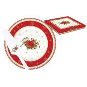 Набор для торта: блюдо + лопатка Рождественская коллекция