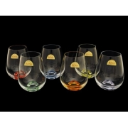 Набор стаканов для виски разноцветн 6 штук