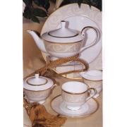Сервиз чайный 17 предметов, на 6 персон «Ноктюрн золотой»