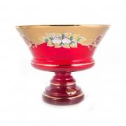 Ваза для фруктов 24см «Лепка красная 5365»