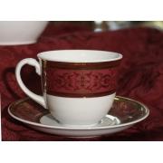 Набор 6 чайных пар 0.2 л «Легаси» бург.