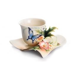 Чашка с блюдцем «Райский сад» 100 мл